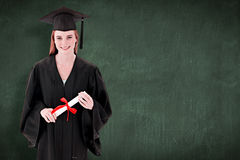Imagen compuesta del adolescente que celebra la graduación Imagen de archivo libre de regalías