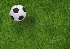 Imagen compuesta del balón de fútbol en 3d Fotos de archivo