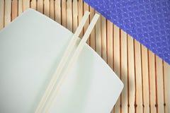 Imagen compuesta del cierre para arriba de palillos con tissu Imágenes de archivo libres de regalías