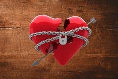 Imagen compuesta del corazón bloqueado Fotos de archivo libres de regalías