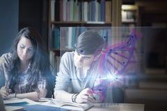Imagen compuesta del ejemplo de la DNA fotografía de archivo libre de regalías