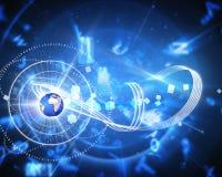 Imagen compuesta del fondo global de la tecnología