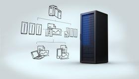 Imagen compuesta del garabato computacional de la nube Imágenes de archivo libres de regalías