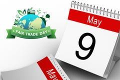 Imagen compuesta del gráfico del comercio justo stock de ilustración