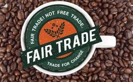 Imagen compuesta del gráfico del comercio justo ilustración del vector