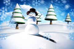 Imagen compuesta del hombre de la nieve Foto de archivo