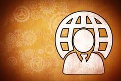 Imagen compuesta del hombre de negocios y de la esfera libre illustration