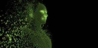 Imagen compuesta del hombre pixelated compuesto 3d stock de ilustración