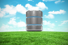 Imagen compuesta del icono del servidor de base de datos Imagen de archivo libre de regalías