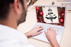 Imagen compuesta del interfaz de enseñanza en línea Fotografía de archivo libre de regalías