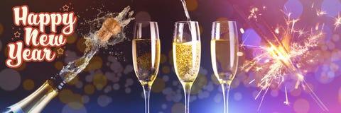 Imagen compuesta del mensaje de la Feliz Año Nuevo Fotografía de archivo