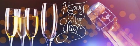Imagen compuesta del mensaje de la Feliz Año Nuevo Imagenes de archivo