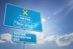 Imagen compuesta del mensaje del día de la prevención del suicidio ilustración del vector