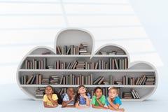 Imagen compuesta del pensamiento lindo de los niños Fotos de archivo libres de regalías