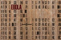 Imagen compuesta del racimo de la palabra del ebola Fotografía de archivo libre de regalías