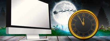Imagen compuesta del reloj grande