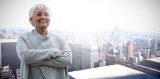 Imagen compuesta del retrato de mujeres jubiladas fotos de archivo libres de regalías