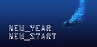 Imagen compuesta del saludo del Año Nuevo Imagenes de archivo
