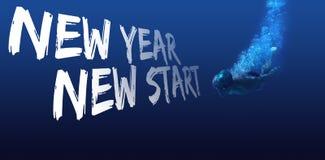 Imagen compuesta del saludo del Año Nuevo Imagen de archivo