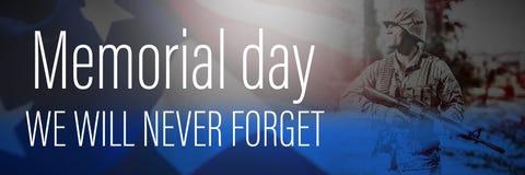 Imagen compuesta del título digital para el Memorial Day foto de archivo