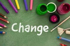Imagen compuesta del texto del cambio en el fondo blanco Foto de archivo