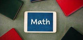 Imagen compuesta del texto de la matemáticas en el fondo blanco Imagen de archivo