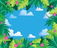 Imagen con el tema 2 de la selva Imagen de archivo