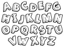 Imagen con el tema 4 del alfabeto Fotografía de archivo