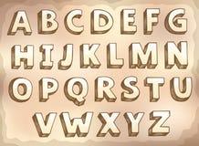 Imagen con el tema 7 del alfabeto Foto de archivo libre de regalías