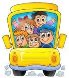 Imagen con el tema 1 del autobús escolar Imágenes de archivo libres de regalías