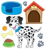 Imagen con el tema 7 del perro Imagen de archivo libre de regalías