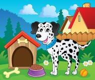 Imagen con el tema 8 del perro Imagen de archivo