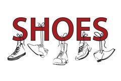 Imagen con el texto y los zapatos Fotos de archivo libres de regalías