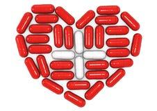 imagen conceptual 3d de píldoras Imagen de archivo libre de regalías