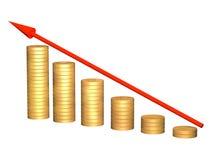 Imagen conceptual - crecimiento de los recursos del dinero Fotografía de archivo libre de regalías
