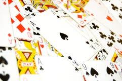 Imagen conceptual de las tarjetas de juego. Imagen de archivo