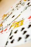 Imagen conceptual de las tarjetas de juego. Imagenes de archivo