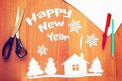 Imagen conceptual de los días de fiesta de la Feliz Año Nuevo Imágenes de archivo libres de regalías