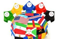 Imagen conceptual de relaciones internacionales Foto de archivo libre de regalías