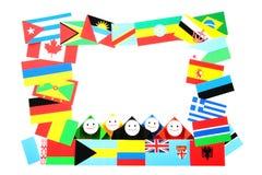 Imagen conceptual de relaciones internacionales Fotografía de archivo libre de regalías