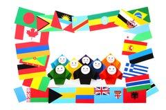 Imagen conceptual de relaciones internacionales Imagen de archivo libre de regalías