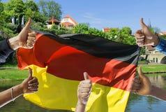 Imagen conceptual de una vida positiva en Alemania fotos de archivo libres de regalías