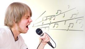 Imagen conceptual del cantante. Imagen de archivo