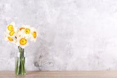 Imagen conceptual del humor de la primavera Flores estacionales en fondo brillante fotografía de archivo