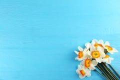 Imagen conceptual del humor de la primavera Flores estacionales en fondo brillante fotos de archivo libres de regalías