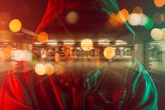 Imagen conceptual del ladr?n de coches foto de archivo