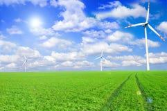 Imagen conceptual del molino de viento. Fotografía de archivo libre de regalías