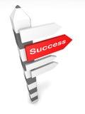 Imagen conceptual del poste indicador aislada Imagen de archivo libre de regalías
