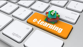 Imagen conceptual, teclado de ordenador con la educación de la palabra, selecte fotos de archivo