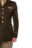 Imagen cosechada del oficial del ejército Foto de archivo libre de regalías